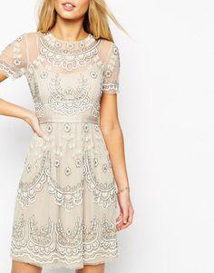 Needle & Thread   Needle & Thread Embellished Tiered Petal Dress at ASOS