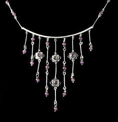 Sterling silver handmade Waterfall necklace by KatieMirandaStudios, $350.00