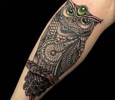Mosaic Tattoo by Coen Mitchell - New Tattoo Models Tattoos Skull, New Tattoos, Cool Tattoos, Tatoos, Owl Tattoo Design, Tattoo Designs, Unique Tattoos, Beautiful Tattoos, Tattoo Casal