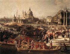 Giovanni Antonio Canal dit Canaletto - Arrivée de l'ambassadeur de France à…