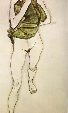 Egon Schiele Woman in Green Blouse