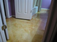 how do you get carpet glue and yellow stain off terrazzo floor