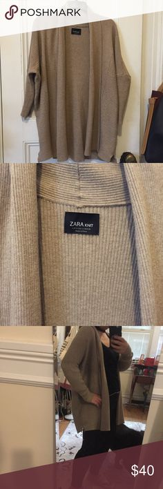 ZARA knit cardigan Very soft and comfy. Good for spring/fall weather Zara Sweaters Cardigans