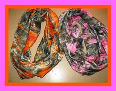 Minky True Timber Camo Infinity Scarf by tinialabini on Etsy, $20.00 (i should order for Carissa and I)