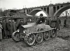 """T Rex: 1920 Washington, D.C., circa 1920. """"Army car with Key Bridge in background."""" A sort of Model T on steroids. (via Shorpy H..."""