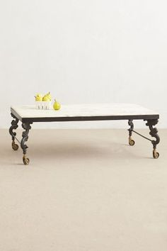 Marble Top Coffee Table - anthropologie.com
