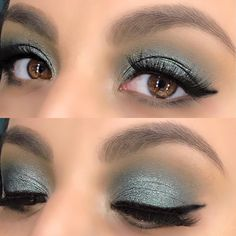 makeup_inspo13 #GreenEyes 💵  Used the #jaclynhill x #morphebrushes #morphexjaclynhill palette. Shades in Pukey, Mocha, Enchanted, Diva, and Beam
