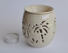 Essential Oils Candle Holder  Incense Lantern by ClayismyArt, ₪110.00
