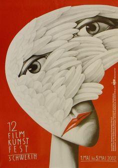 Schwerin Film Festival Poster by Leszek Zebrowski (German state of Mecklenburg-Vorpommern)