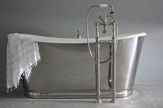 The Lindisfarne Modern Mirror Finish Vintage Designer Cast Iron French Bateau Tub Package from Penhaglion Bathtubs For Sale, Best Bathtubs, Steam Showers Bathroom, Shower Tub, Contemporary Bathtubs, Traditional Bathtubs, Cast Iron Bathtub, Vintage Tub, Whirlpool Bathtub