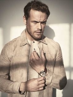 """""""Outlander"""" star Sam Heughan is featured in the latest issue of Gio Journal photographed by John Russo and styled by Monty Jackson. Sam Heughan Caitriona Balfe, Sam Heughan Outlander, Outlander News, Outlander Quotes, Outlander Series, Sam Hall, Fangirl, Sam And Cait, Samheughan"""