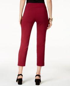 Alfani Tummy-Control Pull-On Capri Pants, Created for Macy's - Ivory/Cream 14