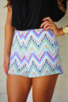 Show And Tell Aztec Shorts: Multi