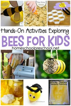 Engaging, hands-on activities exploring bees for kids! Kids will love learning about honey bees with these fun facts and hands-on activities. - Kids education and learning acts Insect Activities, Hands On Activities, Kindergarten Activities, Science Activities, Preschool Activities, Mindful Activities For Kids, Animal Activities For Kids, Nature Activities, Bee Facts For Kids