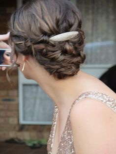 hair was perfect for my year 12 formal