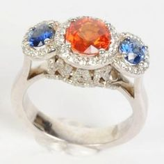 Too Freaking AUsome!! Orange And Blue War Eagle Ring from Warejewelers.com