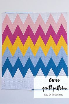 Groove is a modern chevron style quilt design. Multiple layout options to create a bold yet simplistic quilt.