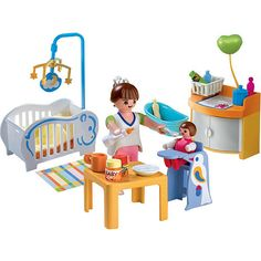 """Playmobil Family Home Playset: Baby Room - Playmobil - Toys """"R"""" Us Baby Room Set, Dolls House Figures, Playmobil Toys, Toy House, Fisher Price Toys, Babies R Us, All Toys, Expecting Baby, Jouer"""