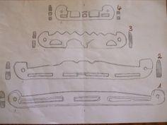 """Taschenbügelvarianten entschieden Nr. 1 und Nr. 4 (siehe Bild, Abbildungen stammen aus dem Buch """"Die Holzfunde von Haithabu"""" F. Westphal, Wachholtz Verlag Münster, 2006"""