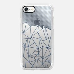 Ab Lines 45 Navy Outline Transparent -  #casetifyiphone7 #iphone7 #geometric #abstract