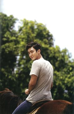 More Siwon - on a horse!