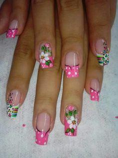 Cute Nail Art, Cute Nails, Pretty Nails, Fabulous Nails, Gorgeous Nails, Spring Nails, Summer Nails, Hair And Nails, My Nails