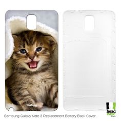 Head Case Kitten in Warm Towel Cats Replacement Battery Back Cover for Samsung Galaxy Note