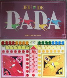 JEU DE DADA French board game vintage Fernand Nathan Ludo Horse racing