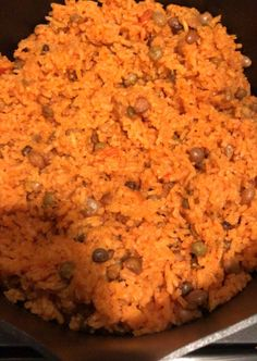 Easy Puerto Rican Rice – Wonderful World of Bree This year, I've been getting more adventurous with my recipes. I've tried to incorporate some new Mexican inspired dishes, especially since that's my pregnancy craving, and now I&… Yellow Rice Recipes, Easy Rice Recipes, Pea Recipes, Mexican Food Recipes, Cooking Recipes, Spanish Food Recipes, Easy Cooking, Gastronomia, Leche Flan