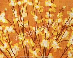 "Forsythias - 8"" x 10"" Digital Painting Print - flower painting - painting of flowers in a vase - orange print - autumn - spring print"