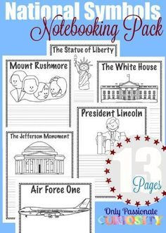 National Symbols Notebooking Pages -