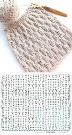Puntos en relieve a crochet