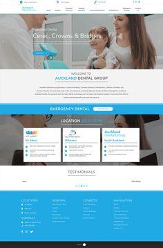 Dentist Website, Dental Group, Emergency Dentist, Portfolio Website, Cosmetic Dentistry, Orthodontics, Business Website, Design Development