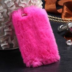 Fashion Rabbit Hair Case For iPhone 6 6S 4.7 For iPhone 6 Plus/ 6S Plus Cover Bling Diamond Plush Furry Cover For iPhone 7 Plus