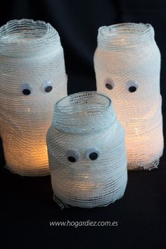 Portavelas momia para halloween #halloween #diy #portavelas #momia