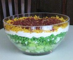 Cooking with K - Southern Kitchen Happenings: 7 Layered Salad, {Granny's Recipe} 24 Hour Salad, Cornbread Salad, Granny's Recipe, Menu Recipe, How To Cook Eggs, Summer Salads, Soup And Salad, 7 Up Salad, Food And Drink