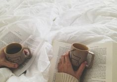 Read in bed together :) Each a book we picked out for the other. I already know mine is Stardust