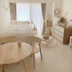 "nine room | ひとり暮らしのおうち時間's Instagram profile post: "".  ウッド調の家具を取り入れた ナチュラルテイストのお部屋。 木の温かみが居心地の良い空間を つくりだしてくれます◎  ————  phote by : @mogmog_you さん 素敵なお写真ありがとうございます!  …"" Home Room Design, Redecorate Bedroom, Minimalist Room, Room Interior, Bedroom Interior, House Interior, Small Room Bedroom, Apartment Decor, Room Decor"