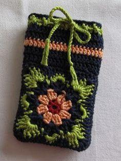 Handy Tasche häkeln, crochet phone case #diy #crochet #häkeln #case