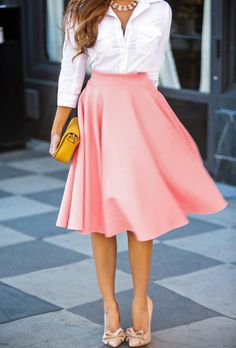 2015 Homecoming New New Fashion Stylish Lady Women's Casual A-Line Pleated Midi Skirt