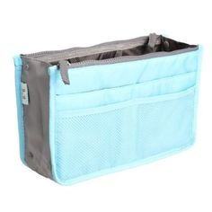 Tenflyer Women Nylon Cosmetic Makeup Bags Organizer Storage Bag Pouch Holder Blue