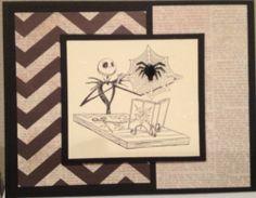 Nightmare Before Christmas Jack Skellington Spider Handmade Greeting Card Zigzag | eBay