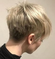 Boyish Choppy Tapered Pixie #ShortHairStyles
