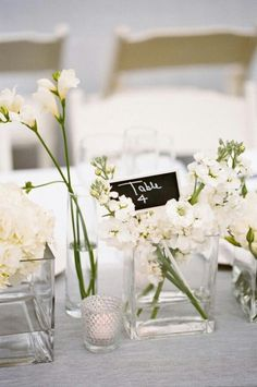 Simple White and Silver Wedding Decor