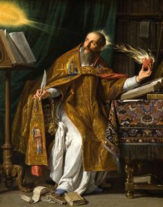 signorcasaubon:  Philippe de Champaigne - Saint Augustine; Los Angeles County Museum of Art, California, USA; 1650