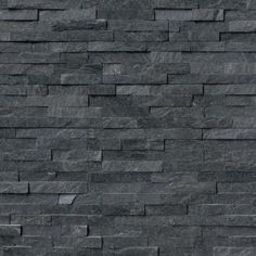 Shower Wall Tile MS International Coal Canyon Ledger Panel 6 in. x 24 in. Natural Quartzite Wall Tile