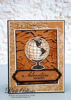 Beautiful World Bundle, World of Good Specialty Designer Series Paper, Manly Project, Rick Adkins, Stampin' Up! Tarjetas Stampin Up, Stampin Up Cards, Masculine Birthday Cards, Masculine Cards, Wink Of Stella, Hand Stamped Cards, Stampin Up Catalog, Specialty Paper, Stamping Up