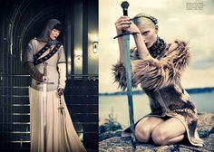 Girls as Knights has always been awesome!  Strength+Beauty=WOMEN