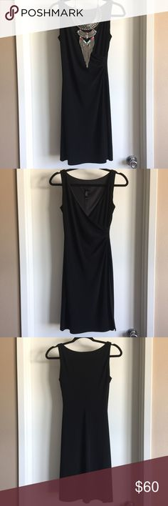 Laundry by Shelli Segal gathered black Vneck dress 💋This sexy little black dress is a Laundry by Shelli Segal original with beautiful gathering on the left side for ultimate form flattering allure. The plunging neckline is tasteful, yet inviting. This mini is both versatile and attractive. Like new, Excellent condition!💋 Laundry by Shelli Segal Dresses Mini