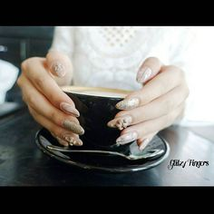 """Want a cuppa coffee ? ☕ -- Matte Chrome Hearts Embossed nails for @marxmae this time !  // #GlitzyFingers #chromehearts #chromeheartsnails #clawnails #marblenails"" Photo taken by @glitzyfingers on Instagram, pinned via the InstaPin iOS App! http://www.instapinapp.com (07/03/2015)"